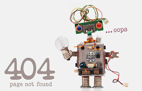 404 robot. Page Not Found